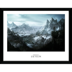 "Skyrim Vista Framed Photographic - 16"""" x 12"""