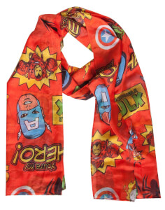Marvel - Comics Woven Fashion Scarf with All Over Print