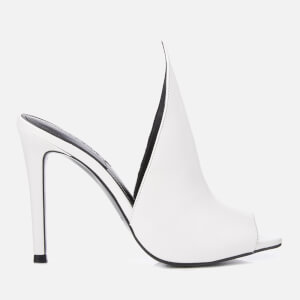 Kendall + Kylie Women's Essie Leather Heeled Sandals - White