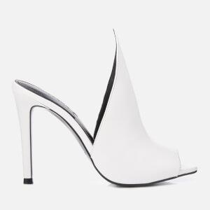 Kendall + Kylie Women's Essie Leather Heeled Sandals - White