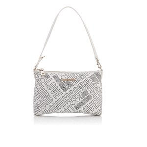 Love Moschino Women's Love Printed Shoulder Clutch Bag - White