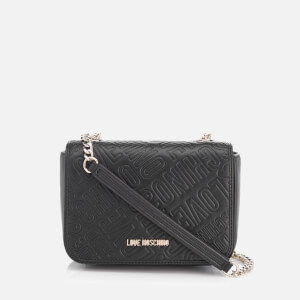 Love Moschino Women's Love Mini Printed Shoulder Bag - Black