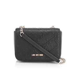 Love Moschino Women's Love Mini Printed Shoulder Bag - Black