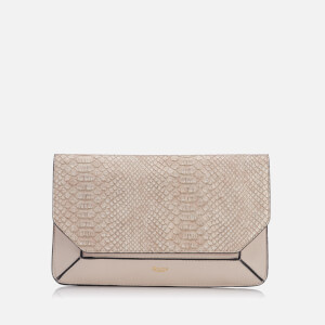 Dune Women's Ellio Reptile Reversible Fold Over Clutch Bag - Cream Reptile
