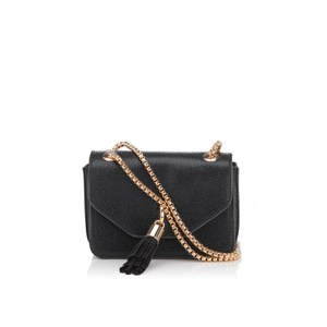 Dune Women's Sassie Micro Tassel Cross Body Bag - Black