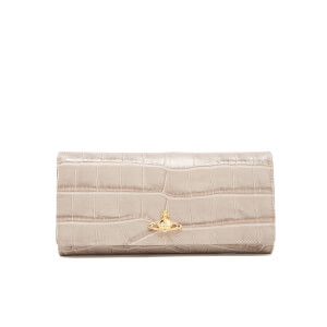 Vivienne Westwood Women's Royal Oak Croc Leather Credit Card Purse - Taupe