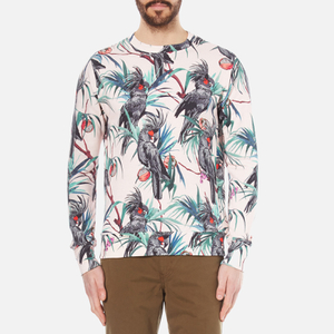 PS by Paul Smith Men's Long Sleeve Printed Sweatshirt - Pink