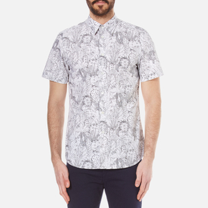 PS by Paul Smith Men's Short Sleeve Tailored Fit Shirt - White