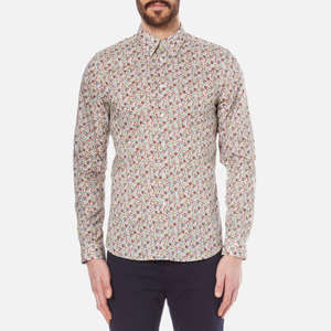 PS by Paul Smith Men's Long Sleeve Tailored Fit Shirt - Multi