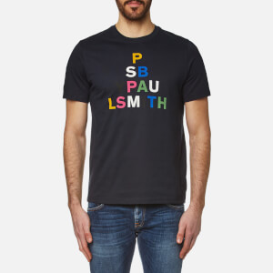 PS by Paul Smith Men's Large Logo Crew Neck T-Shirt - Navy