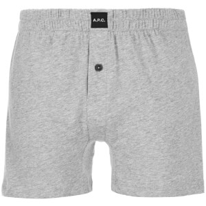 A.P.C. Men's Cabourg Boxer Shorts - Gris Clair Chine