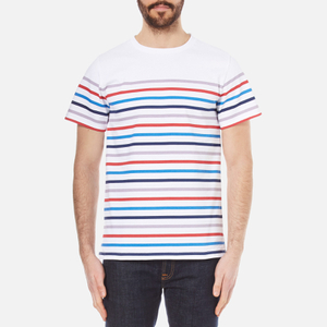 A.P.C. Men's Regular Stripe T-Shirt - Multicolour