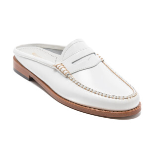 Bass Weejuns Women's Penny Slide Leather Loafers - White: Image 2