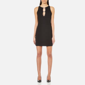 Versus Versace Women's Jersey Cocktail Dress with Stud Close Front - Black