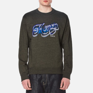 KENZO Men's Embroidered Logo Sweater - Dark Khaki