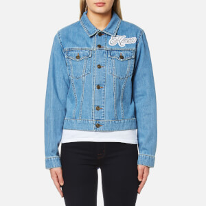 KENZO Women's Bleached Denim Logo Jacket - Bleached Blue