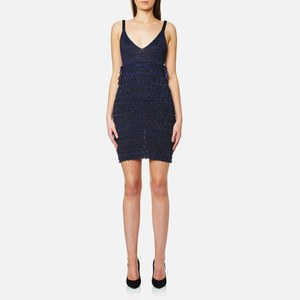 KENZO Women's Ruffle Lurex Knit Dress - Midnight Blue