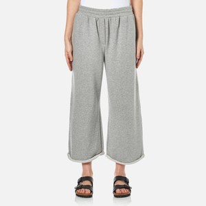 T by Alexander Wang Women's Soft French Terry Cropped Leg Sweatpants - Heather Grey
