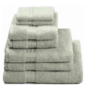 Restmor 100% Egyptian Cotton 7 Piece Supreme Towel Bale Set (500gsm) - Silver
