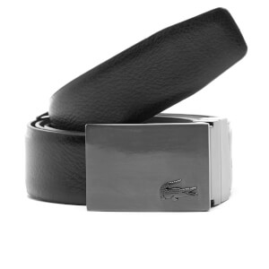 Lacoste Men's Reversible Branded Buckle Belt - Brown/Black