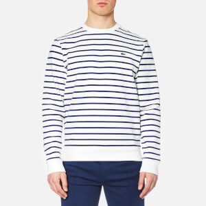 Lacoste Men's Nautical Crew Neck Sweatshirt - Flour/Ocean