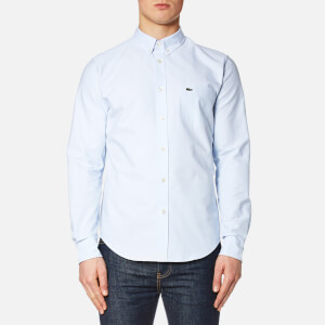 Lacoste Men's Oxford Long Sleeve Shirt - Atmosphere/White