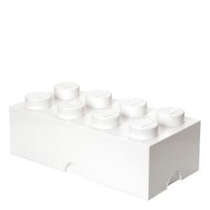 Ladrillo de almacenamiento LEGO (8 espigas) - Blanco