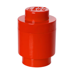 LEGO Storage Brick 1 - Bright Red (Round)