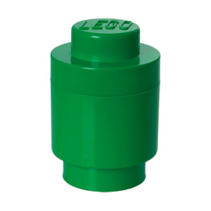 LEGO Storage Brick 1 - Dark Green (Round)