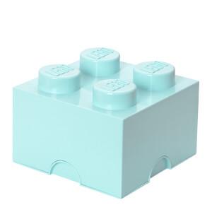 Ladrillo de almacenamiento LEGO (4 espigas) - Azul agua