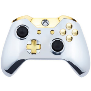 Xbox One Controller - Chrome Silver & Gold Buttons