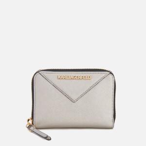 Karl Lagerfeld Women's K/Klassik Small Zip Wallet - Champagne