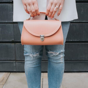 The Cambridge Satchel Company Women's Exclusive Mini Poppy Bag with Stamp - Terracotta Grain: Image 6