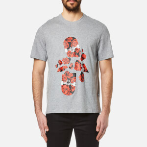 MSGM Men's Skate Logo T-Shirt - Grey