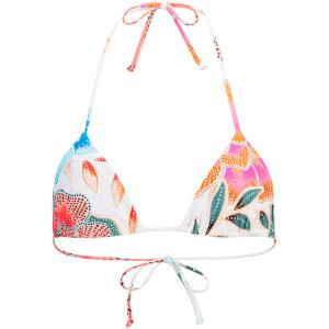 Mara Hoffman Women's Arcadia Tie Bikini Top - White/Pink