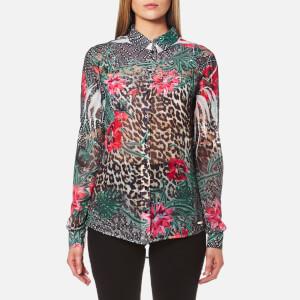 Guess Women's Long Sleeve Clouiu Shirt - Havannah Fusion