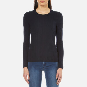Superdry Women's Luxe Mini Cable Knitted Jumper - Marine Navy