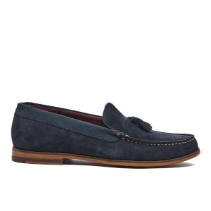Ted Baker Men's Dougge Suede Tassel Loafers - Dark Blue