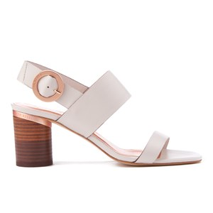 Ted Baker Women's Azmara Leather Block Heeled Sandals - Light Grey