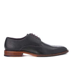 Ted Baker Men's Marar Leather Punched Detail Derby Shoes - Black