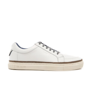 Ted Baker Men's Rouu Leather Cupsole Trainers - White