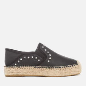 Ash Women's Xiao Leather Studded Espadrilles - Black