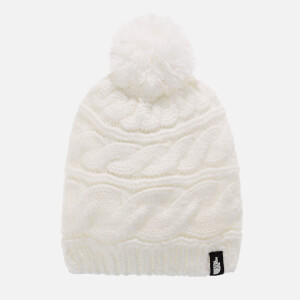 The North FaceTri Cable Knit Beanie Hat - White