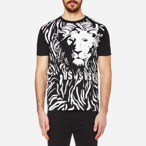Versus Versace Men's Lion Large Logo T-Shirt - Black/White