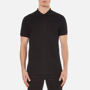Versace Collection Men's Pique Polo Shirt - Nero