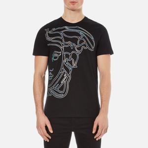 Versace Collection Men's Large Medusa Logo T-Shirt - Black