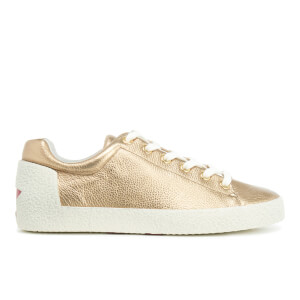 Ash Women's Nicky Bag Shimmer/Nappa Wax Trainers - Gold/Red