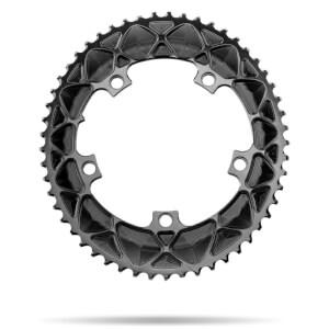 AbsoluteBLACK 130BCD 5 Bolt Spider Mount Aero Oval Chain Ring (Premium) - 53T - Black