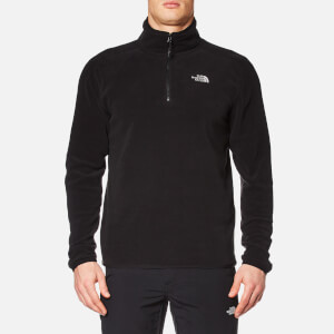 The North Face Men's 100 Glacier Delta 1/4 Zip Jacket - TNF Black