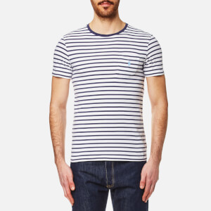 Polo Ralph Lauren Men's Pocket T-Shirt - White Stripe